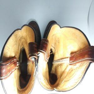 Tony Lama Shoes - Tony Lama Brown Leather Men Western Boots Sz7.5D